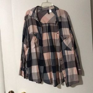 Divided by H&M Plaid Button down Shirt